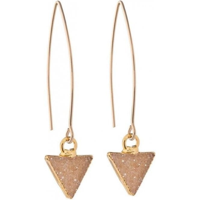Decadorn Mini Triangle Drusy Dropper Earrings