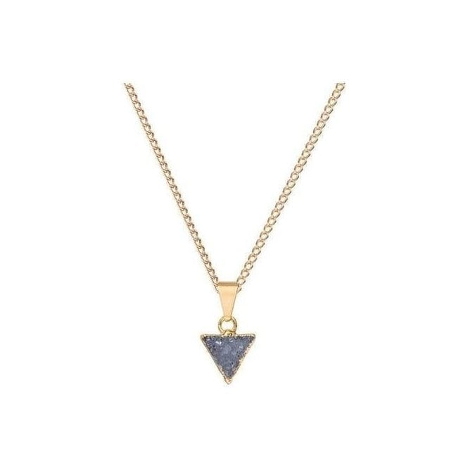 Decadorn Mini Triangle Drusy Pendant Necklace