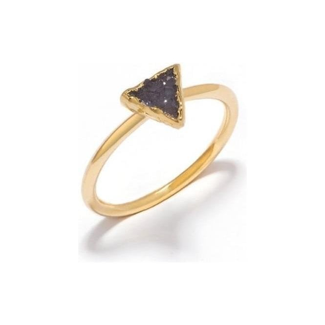 Decadorn Mini Triangle Drusy Stacking Ring