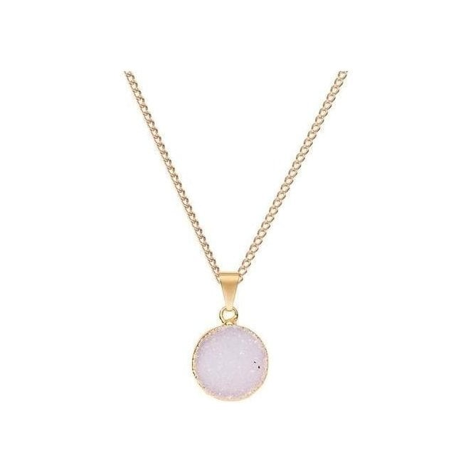 Decadorn Small Circle Drusy Pendant Necklace