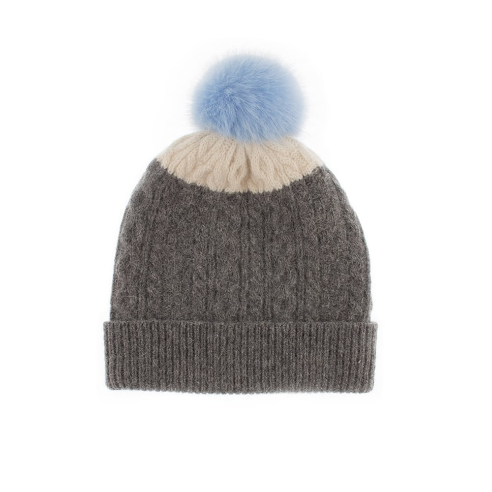 59cb68c833b Dents Cable Knit Hat with Faux Fur Pom Pom - Womens Hats  O C Butcher