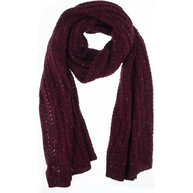 Dents Cable Knit Marl Blanket Scarf