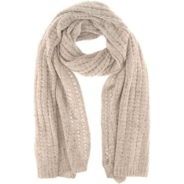 Cable Knit Marl Blanket Scarf