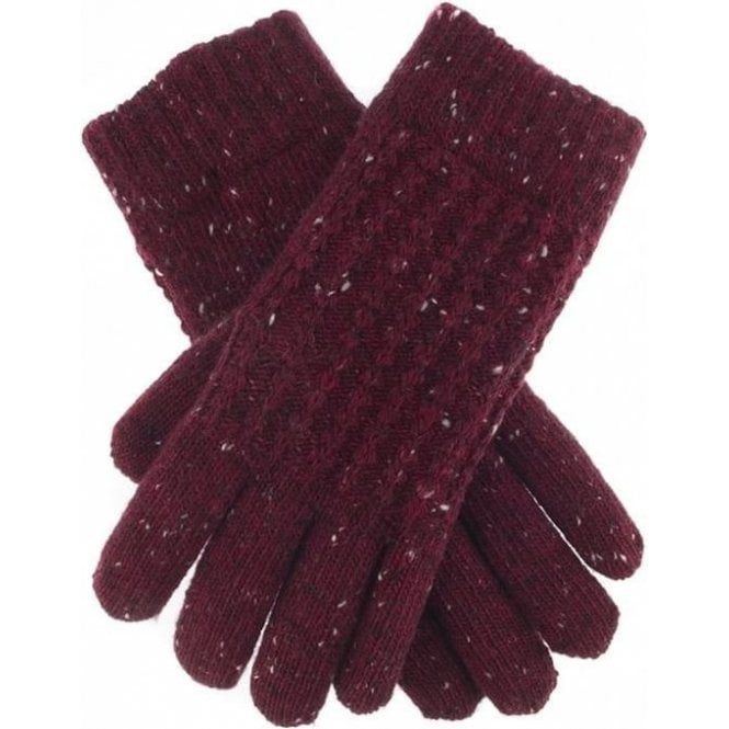 Dents Cable Knit Marl Gloves
