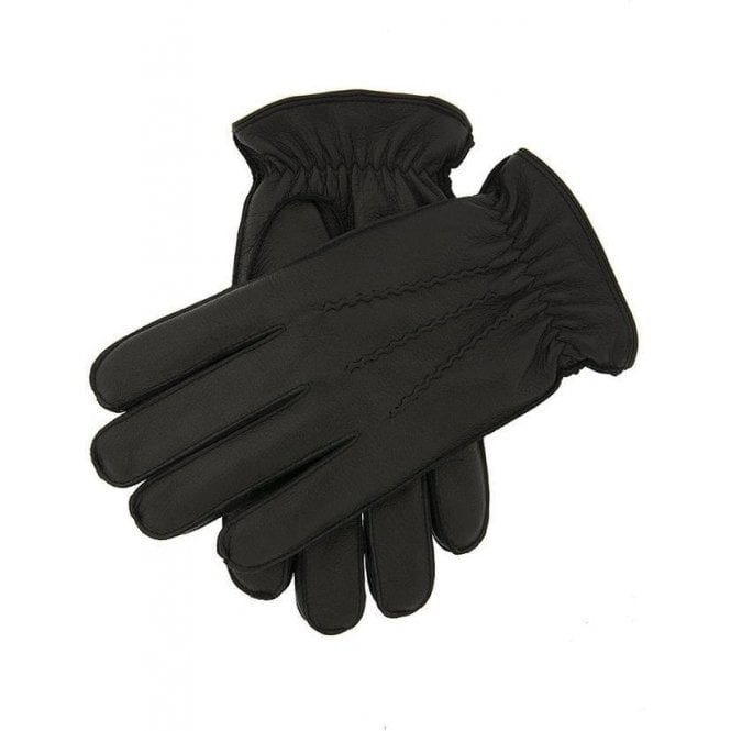Dents Deerhurst - Men's Faux Fur Lined Deerprint Leather Gloves