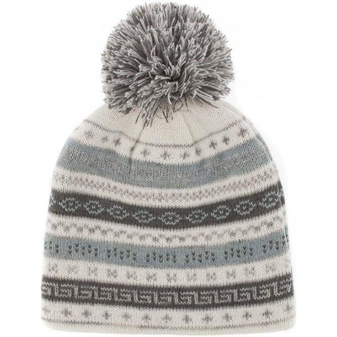 Dents Fairisle Knit Hat with Pom Pom