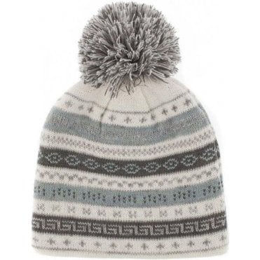Fairisle Knit Hat with Pom Pom