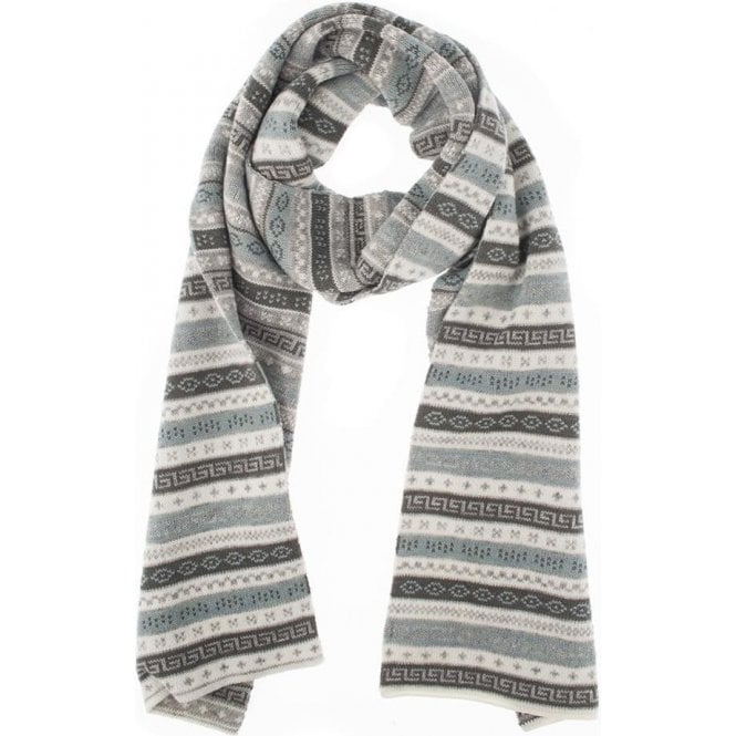 Dents Fairisle Knit Scarf