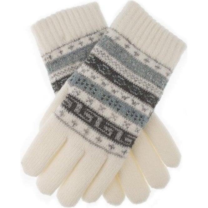 Dents Fairisle Pattern Knitted Gloves