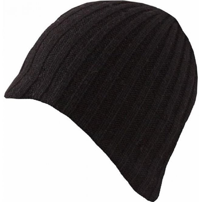 Dents Lambswool Blend Knitted Beanier Hats