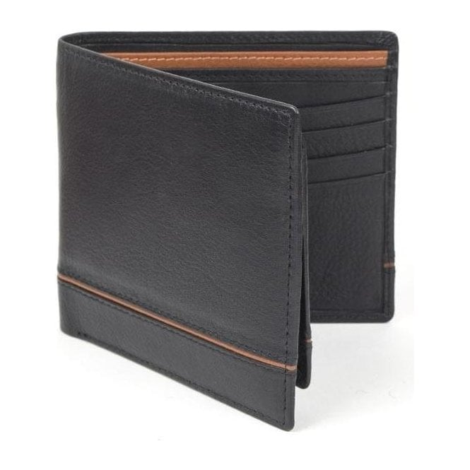 Dents Natural Grain Leather Wallet and Removable Card Holder with RFID Blocking Protection