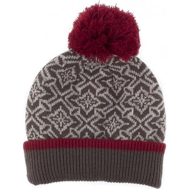 Dents Nordic Pattern Knit Pom Pom Hat