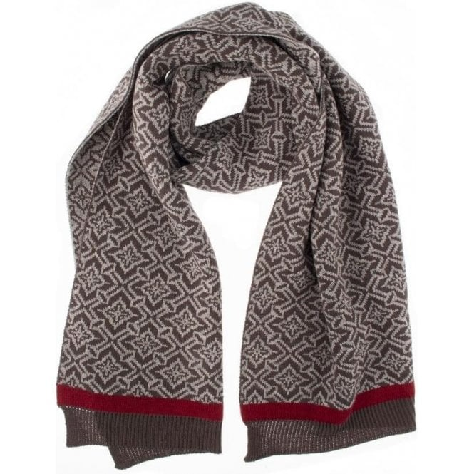 Dents Nordic Pattern Knit Scarf