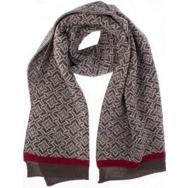 Nordic Pattern Knit Scarf