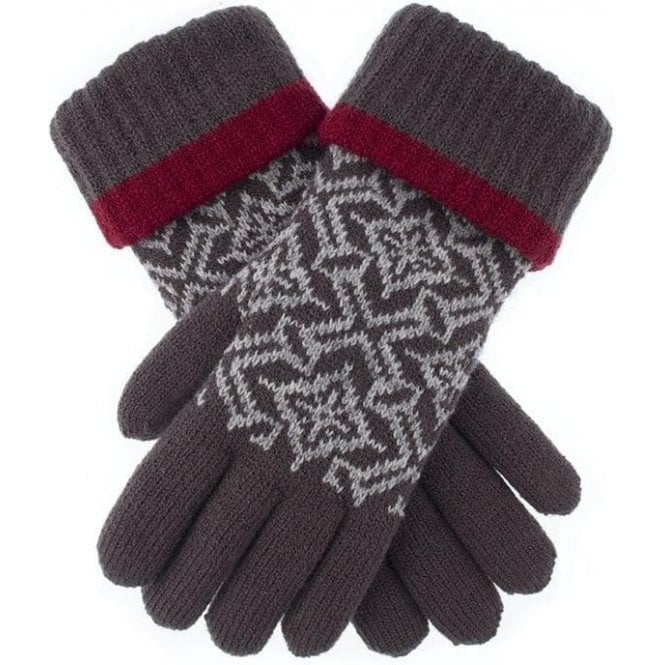 Dents Nordic Pattern Knitted Gloves