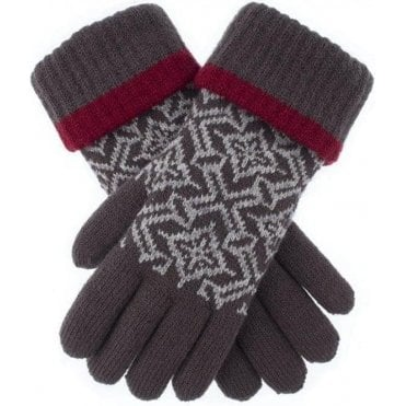 Nordic Pattern Knitted Gloves
