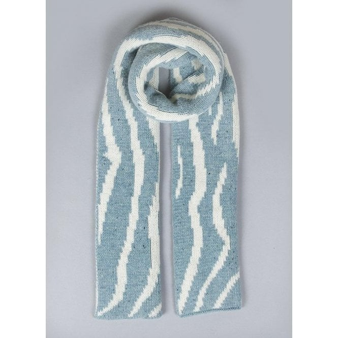 Dents Striped Knitted Scarf