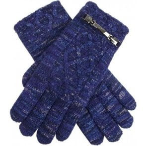 Women's Donegal Marl Cable Knit Gloves