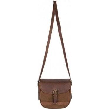Clara Large Leather Saddle Style Bag