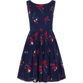 Abigail Spring Floral Pleated Dress