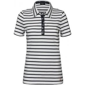 100% Cotton Poloshirt in Nautical Stripe