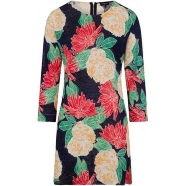 3/4 Sleeve Floral 100% Linen Tunic