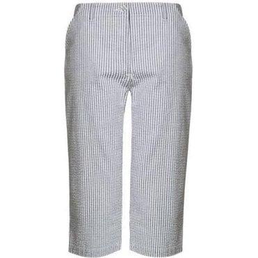 Eve fit Seersucker Stripe Capri Pants