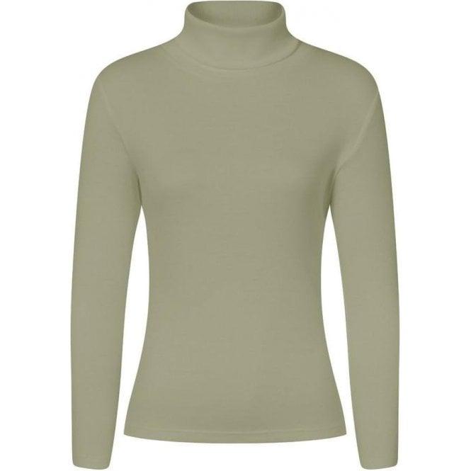 Emreco MILLIE Cotton Blend Polo Neck Top
