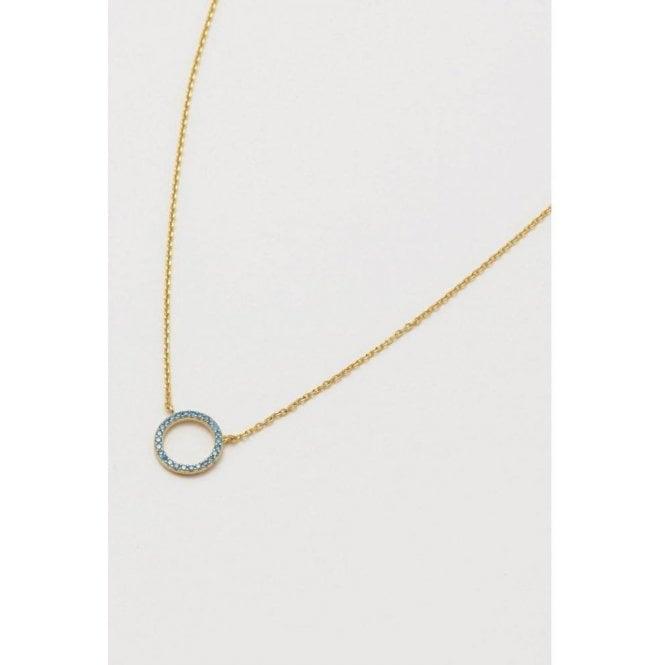 Estella Bartlett Blue CZ Circle Necklace