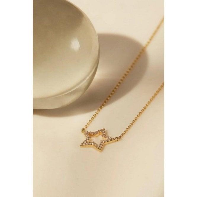 Estella Bartlett CZ Open Star Necklace