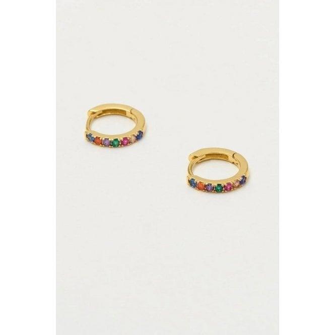 Estella Bartlett Hoop Rainbow Earrings