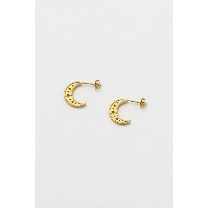 Estella Bartlett Moon Hoop Earrings