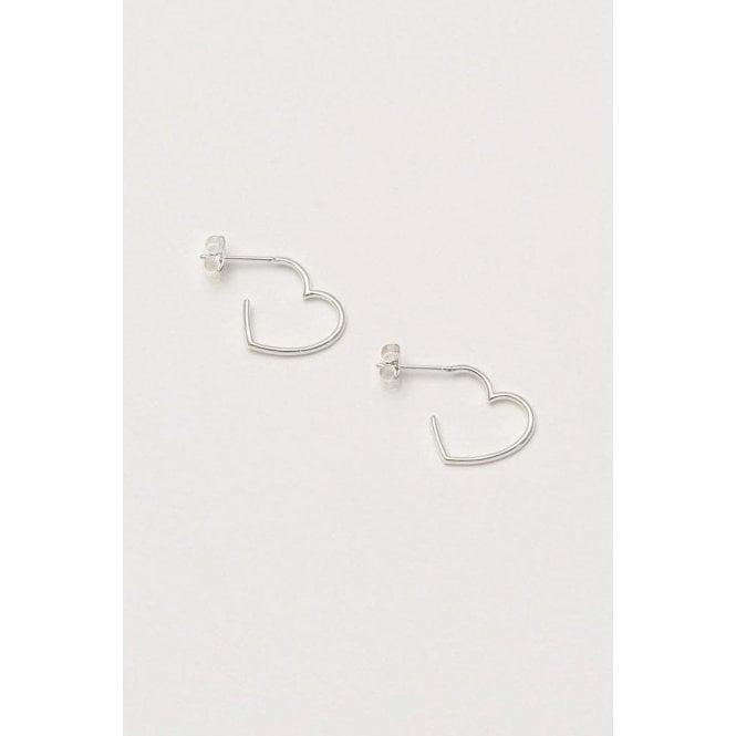 Estella Bartlett Open Heart Hoop Earrings