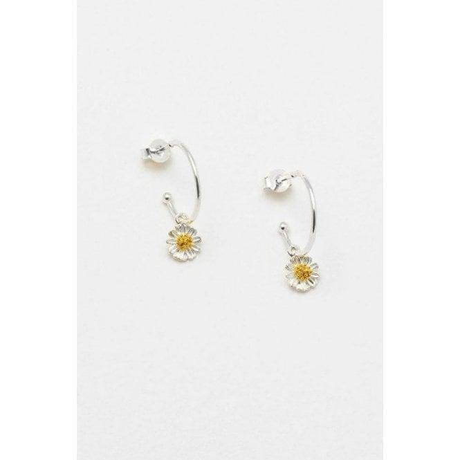 Estella Bartlett Wildflower Drop Hoop Earrings