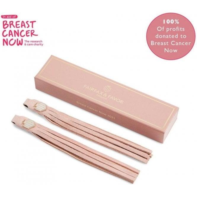 Fairfax & Favor Breast Cancer Now 2021 Pink Suede Boot Tassels