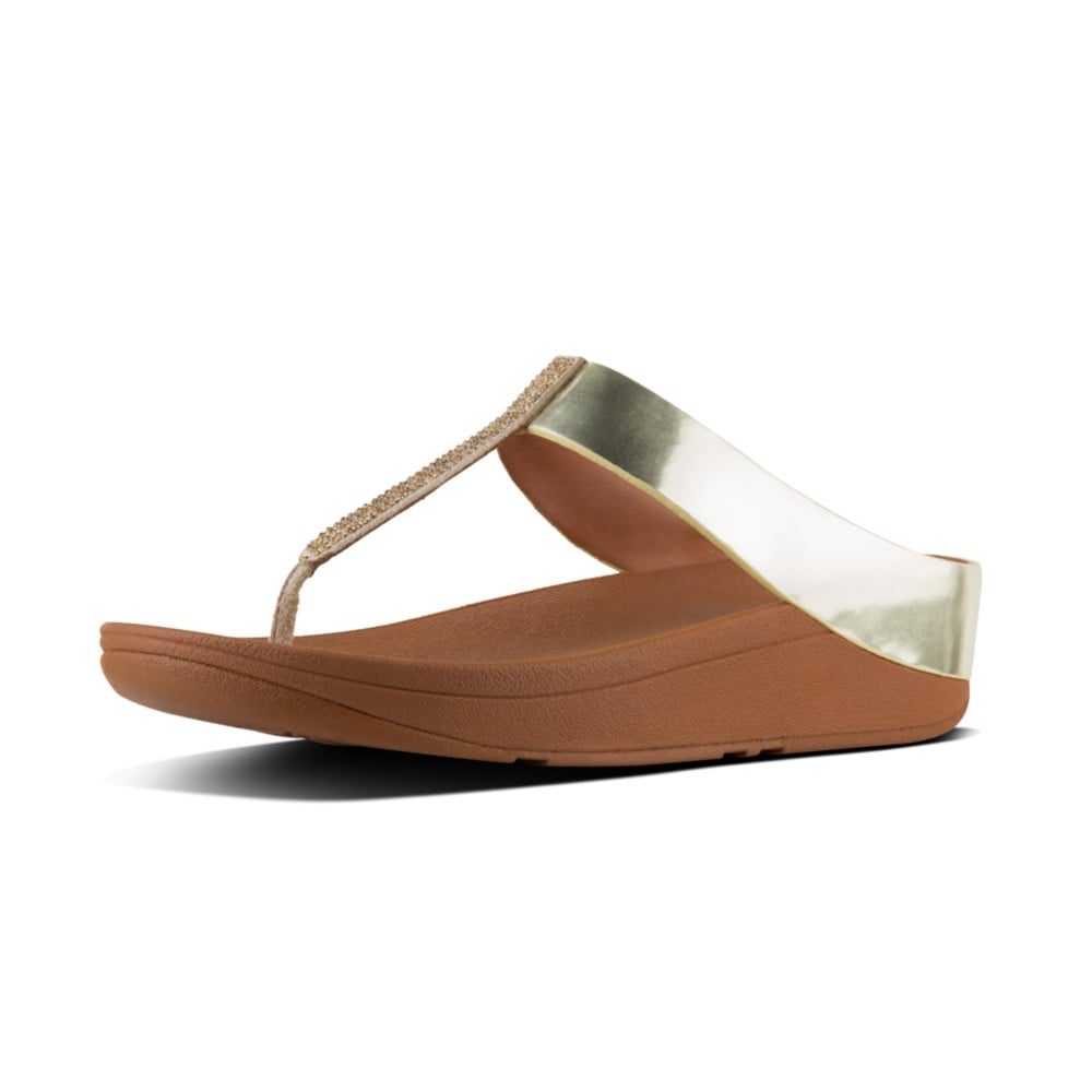 FitFlop Fino Crystal Toe Thong Sandals zzbsb