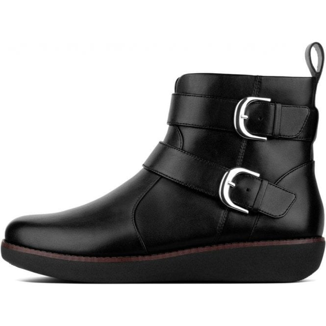 Fitflop LAILA™ DOUBLE BUCKLE LEATHER ANKLE BOOTS