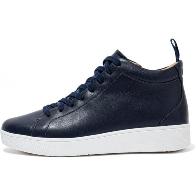 Fitflop RALLY LEATHER HIGH-TOP TRAINERS