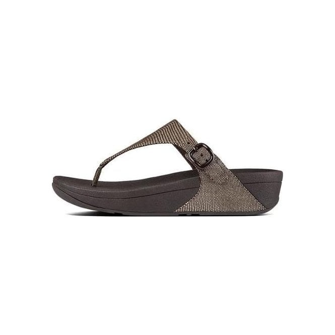 Fitflop The Skinny™ Lizard-Print Toe-Thong Sandals