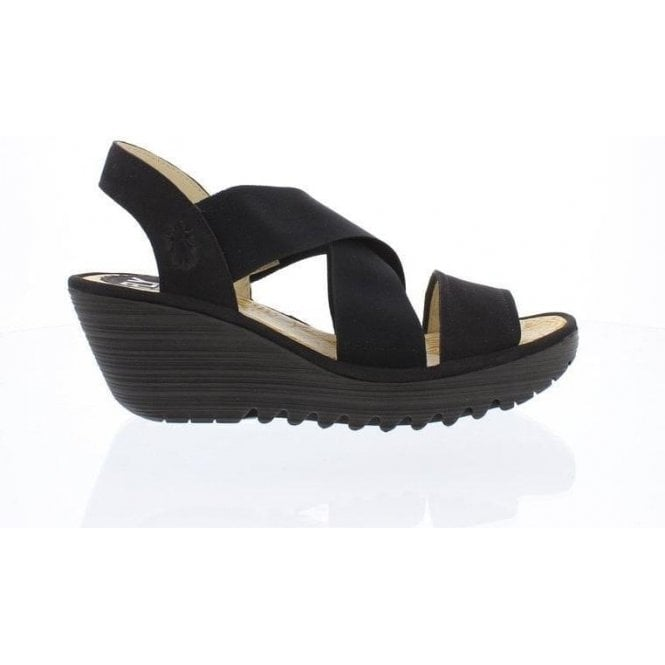 Fly London YAJI888FLY Ladies Leather Wedge Sandals