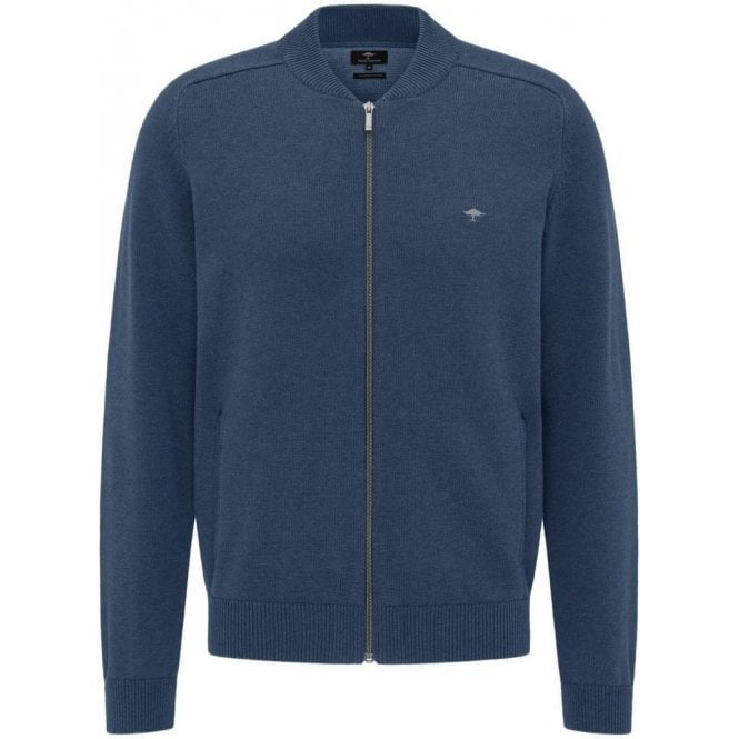 Fynch Hatton Casual Fit Cotton College Cardigan