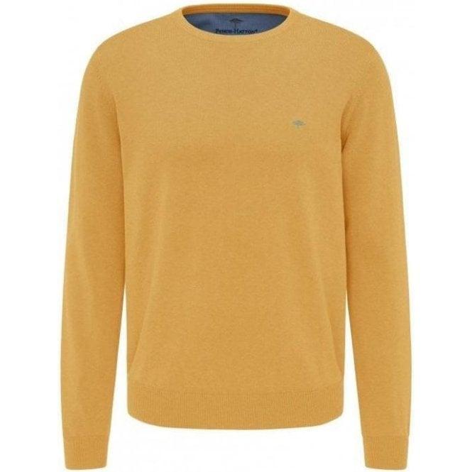 Fynch Hatton Casual Fit Round Neck Cotton Sweater