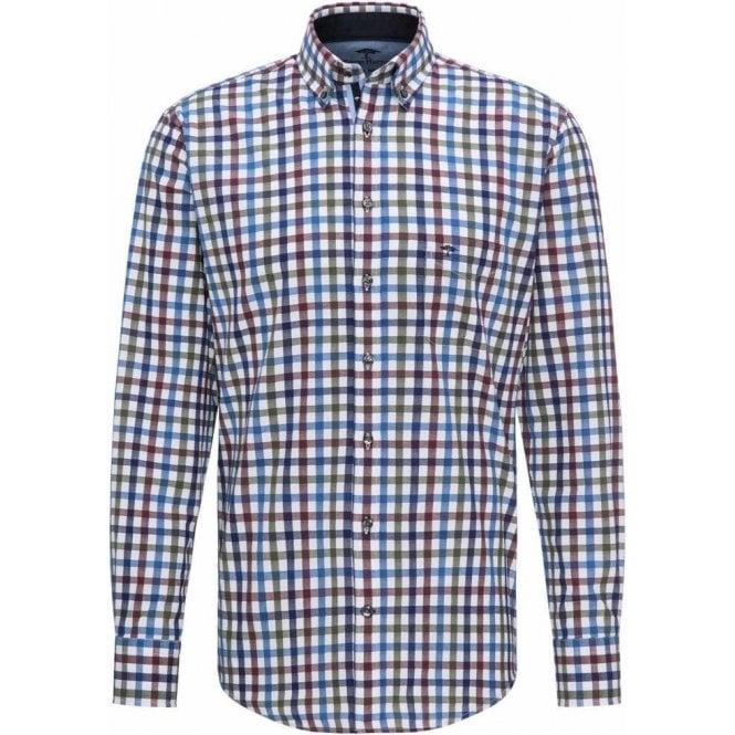 Fynch Hatton Casual-Fit Twill Plaid Shirt