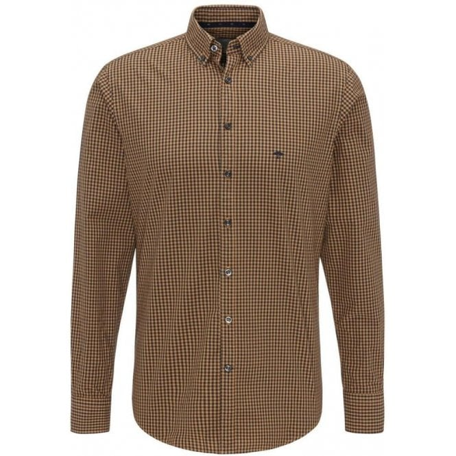 Fynch Hatton Check Dyed Casual-Fit shirt