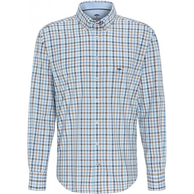 Fynch Hatton Checked Button-Down Shirt