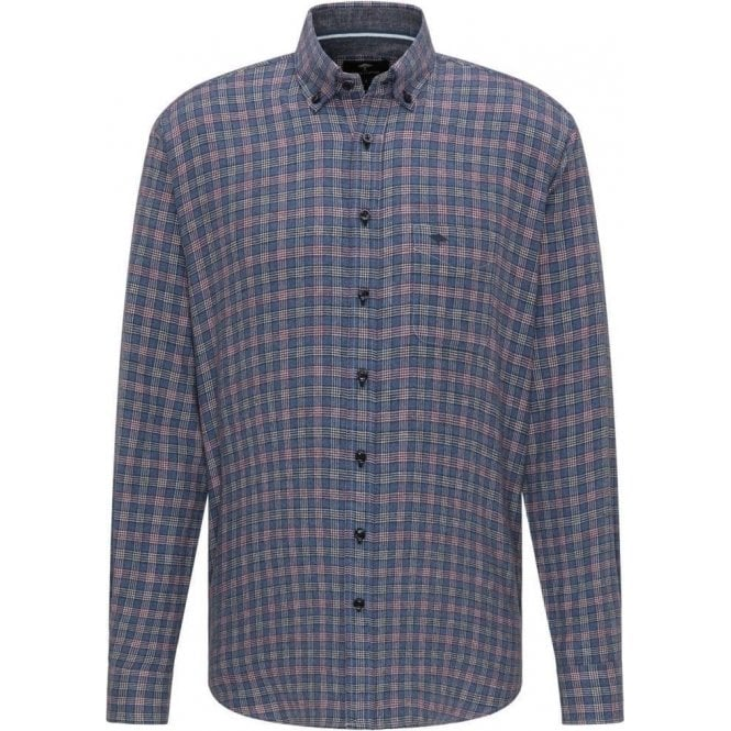Fynch Hatton Checked Casual Fit Button-Down Shirt