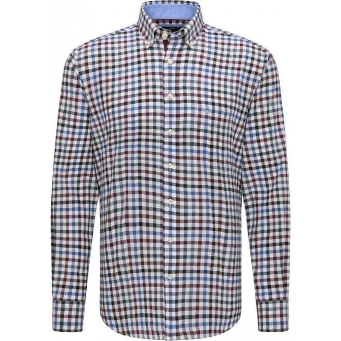 Fynch Hatton Checked Pattern Cotton Shirt