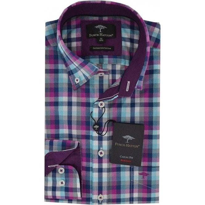 Fynch Hatton Combi Checked Shirt