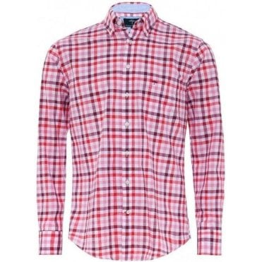 Cotton Combi Check Shirt