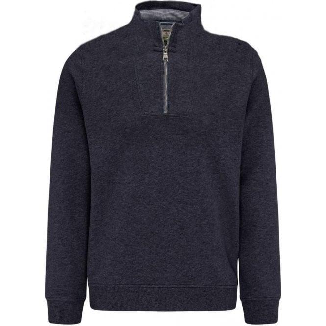 Fynch Hatton Cotton Half Zip Sweater